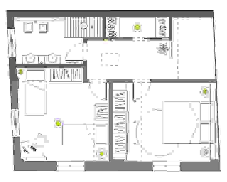 Pianta Arredo P. Primo | Ipotesi Distributiva 2 di IDesign di Nicola Fiorani Moderno