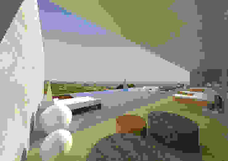 BODEGA Y VIVIENDA ENTRE VIÑAS, HARO, LA RIOJA Bodegas de estilo moderno de THINKING OF COLORS Moderno