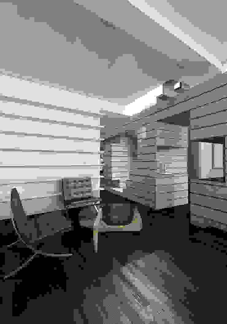 CASA DEL FILOSOFO Soggiorno minimalista di DELISABATINI architetti Minimalista