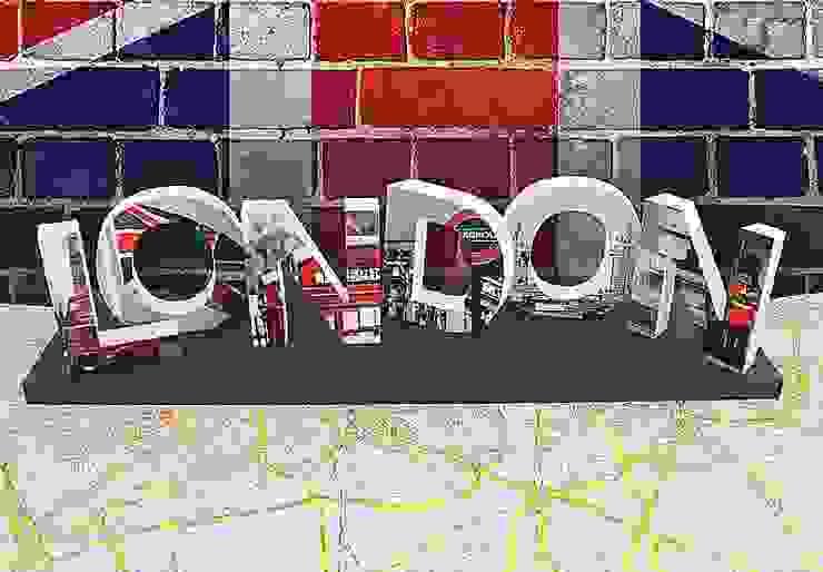 Dekobuchstaben - 3D LONDON bedruckt von K&L Wall Art Ausgefallen