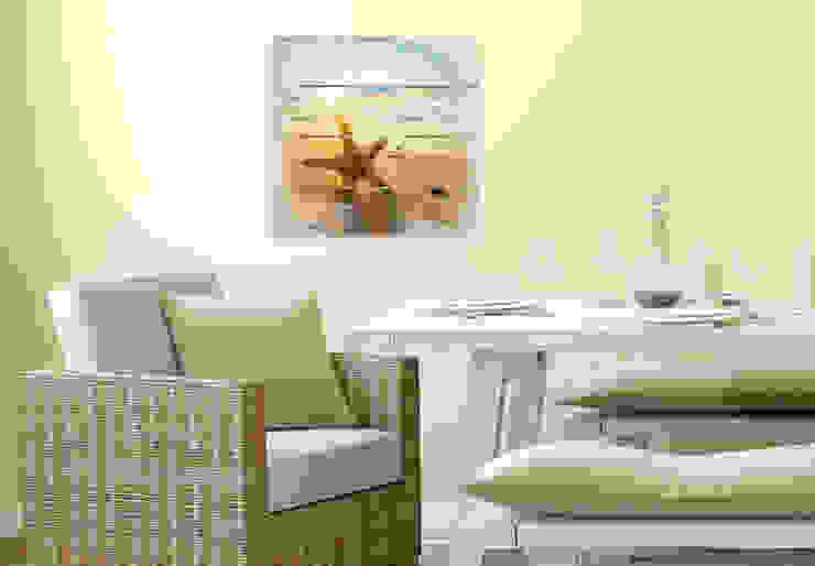 Holzbilder - Seestern im Sand von K&L Wall Art Mediterran