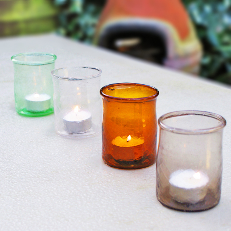 Earthy T-lights (set of 4): eclectic  by Decorum, Eclectic