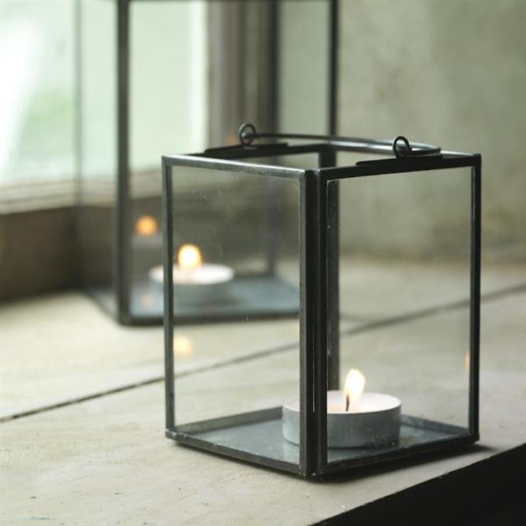 Box Lantern (set of 2): eclectic  by Decorum, Eclectic