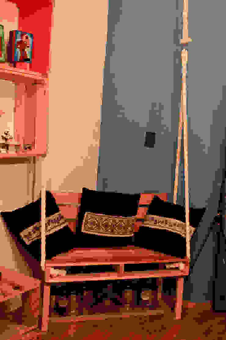 Muebles de pallet de amiko espacios Rústico