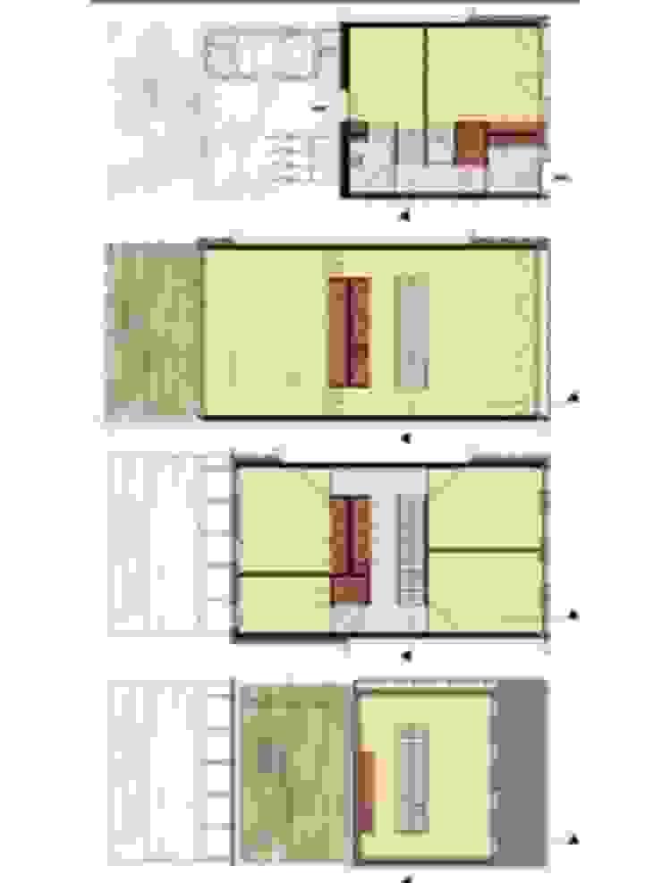 DUURZAME WONING OP VRIJ KAVEL NIEUW LEYDEN: modern  door D. M. Alferink architect, Modern