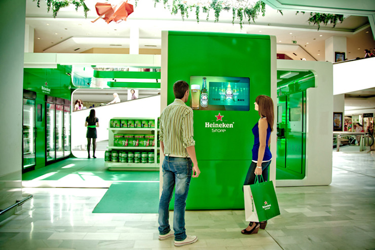 Heineken® Store Salones de eventos de estilo moderno de LabMatic Estudio Moderno