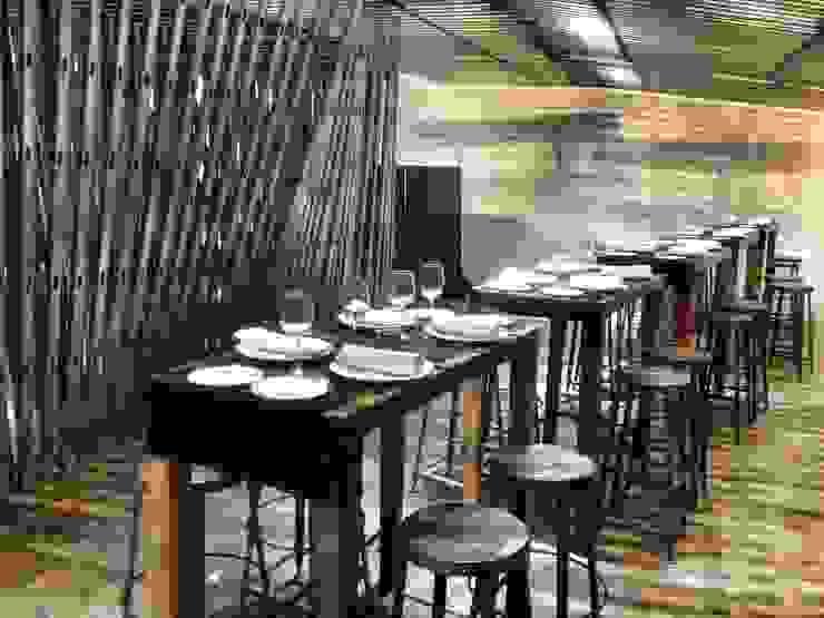 Restaurante Sala VIP ARCOmadrid 2013 Comedores de estilo industrial de Q:NØ Arquitectos Industrial