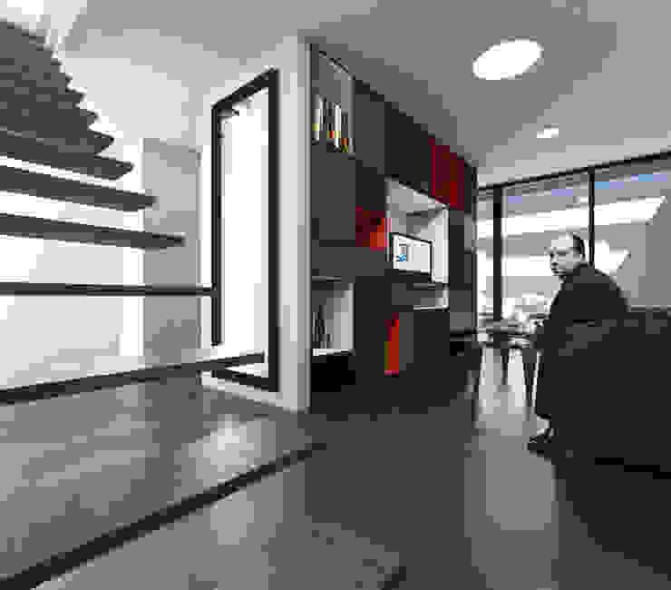 Q:NØ Arquitectos Phòng khách phong cách Địa Trung Hải