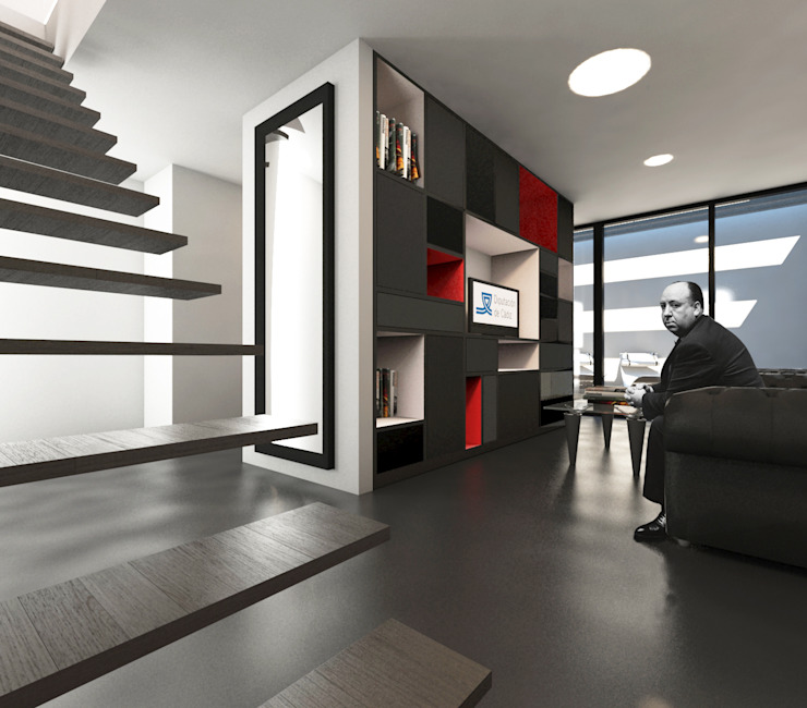 Estar VPO (VMEJÓ) Q:NØ Arquitectos Livings de estilo mediterráneo