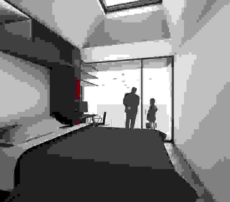 Dormitorio VPO (VMEJÓ) Q:NØ Arquitectos Dormitorios de estilo mediterráneo