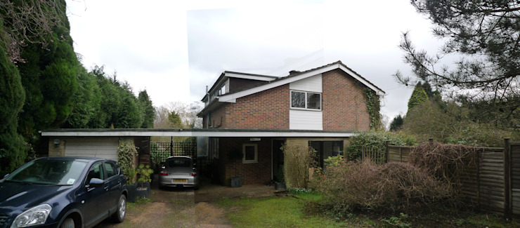 Existing Approach and entrance to a 1960s home in Haslemere, Surrey ArchitectureLIVE