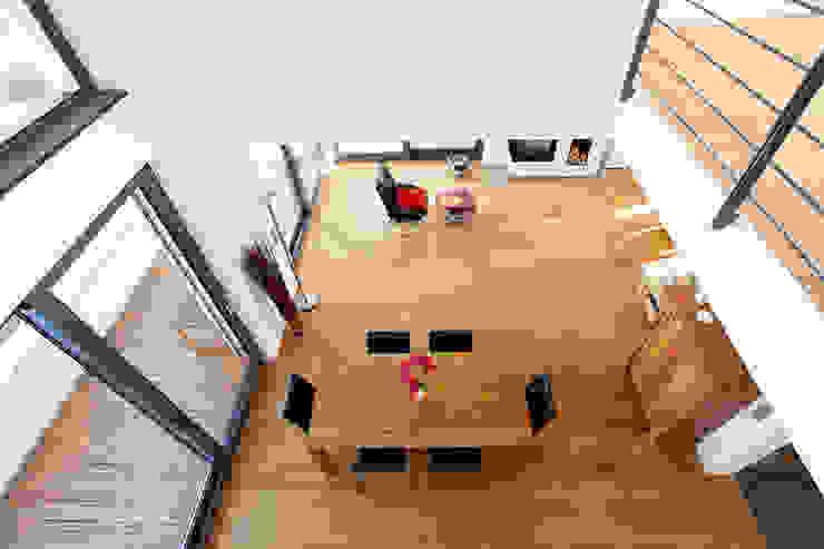 Blick von der Galerie Moderne Esszimmer von BITSCH + BIENSTEIN Architekten PartGmbB Modern