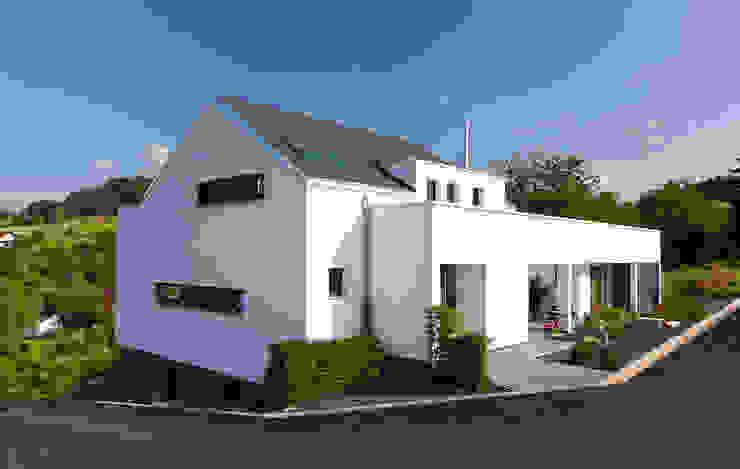 Straßenseite Moderne Häuser von BITSCH + BIENSTEIN Architekten PartGmbB Modern