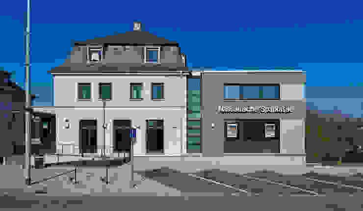 Straßenansicht Moderne Bürogebäude von BITSCH + BIENSTEIN Architekten PartGmbB Modern