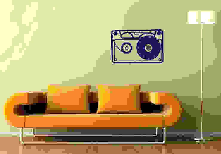 Kassette Wanduhr von K&L Wall Art Ausgefallen