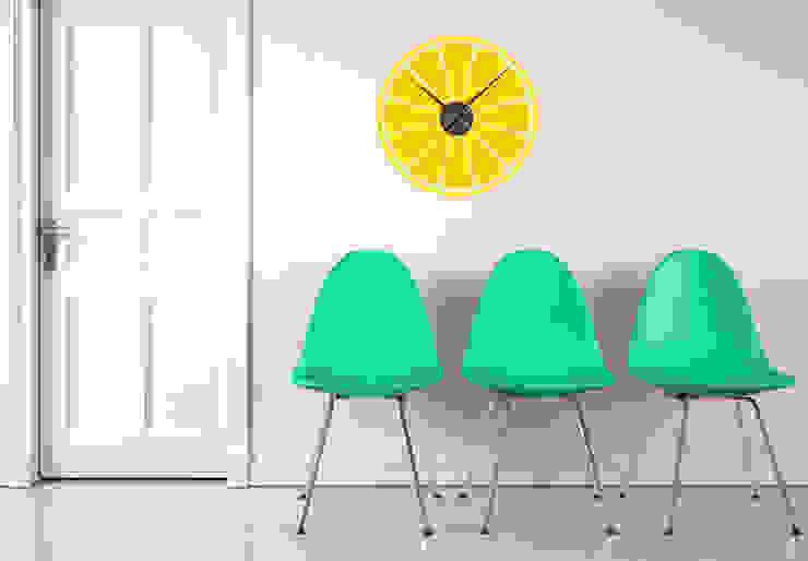 Zitrone Wanduhr von K&L Wall Art Ausgefallen