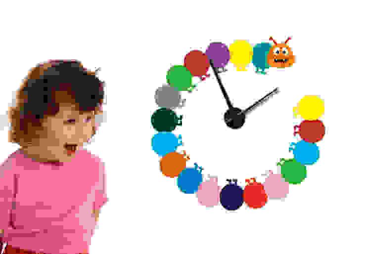 Bunte Raupe Uhr K&L Wall Art KinderzimmerAccessoires und Dekoration