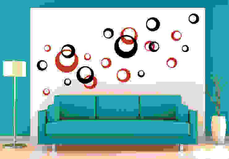 Wandtattoo - Retro Kreise (2-farbig) : modern  von K&L Wall Art,Modern