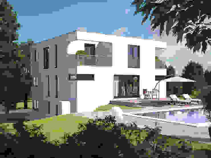 Hommage 327 Gartenansicht Moderne Häuser von Hanlo Haus Modern