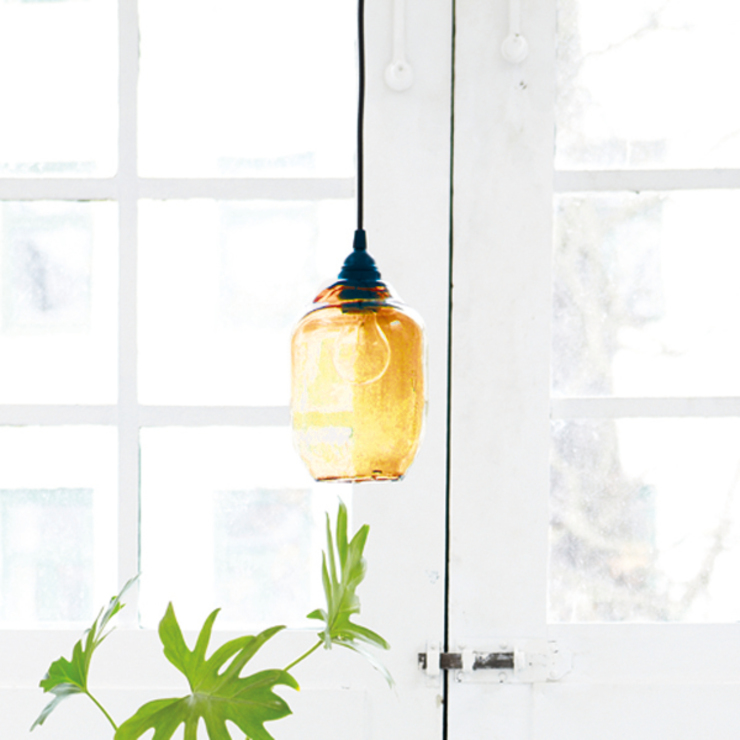 Blown glass lamp shade: industrial  by Decorum, Industrial