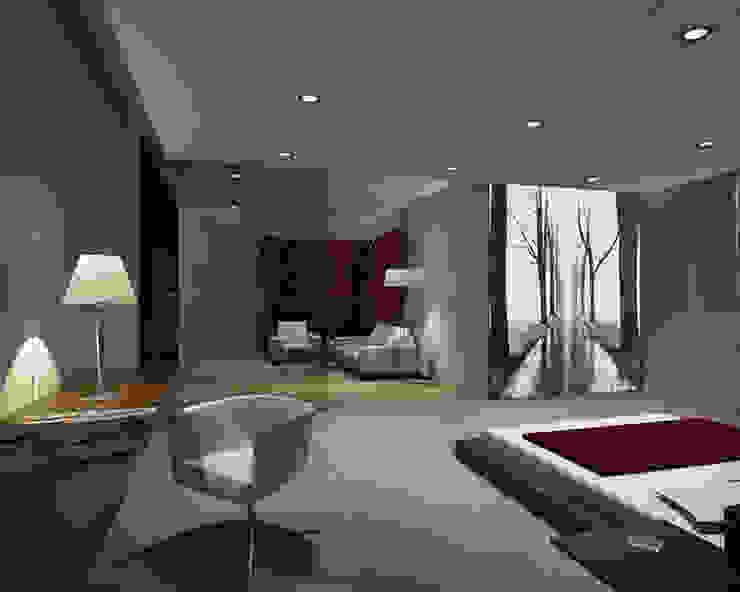 Habitacion con cuadro retroiluminado Presumedetucasa.es Dormitorios de estilo moderno