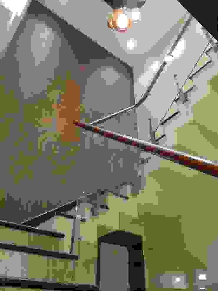 Residence of Mr.Chandru Modern corridor, hallway & stairs by Hasta architects Modern