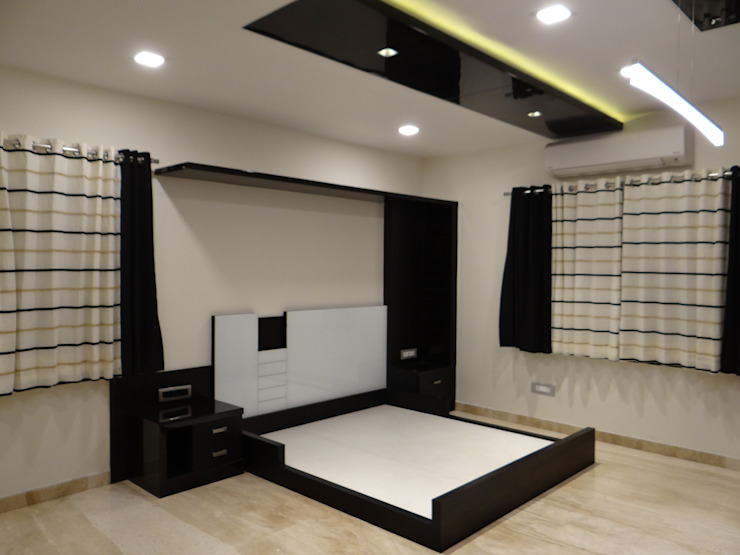 masterbedroom cot Modern style bedroom by Hasta architects Modern