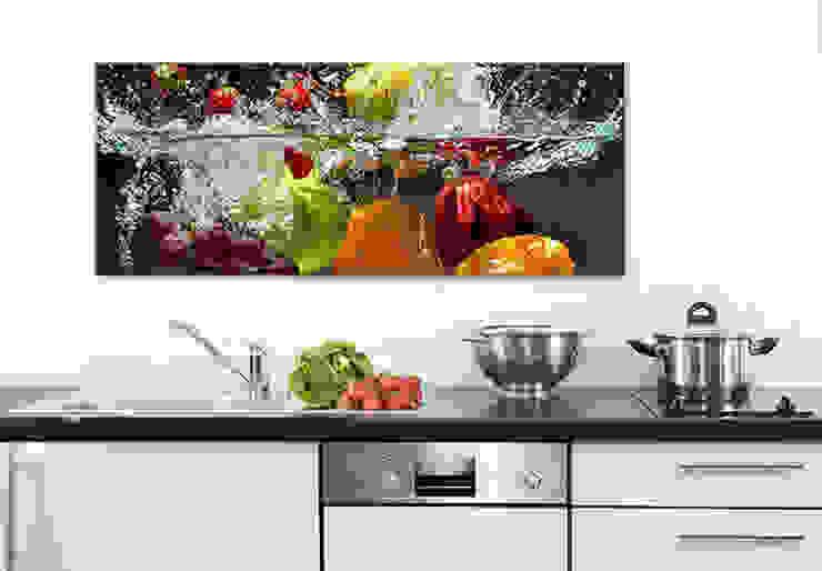 Acrylglasbild - Erfrischendes Obst Panorama : modern  von K&L Wall Art,Modern