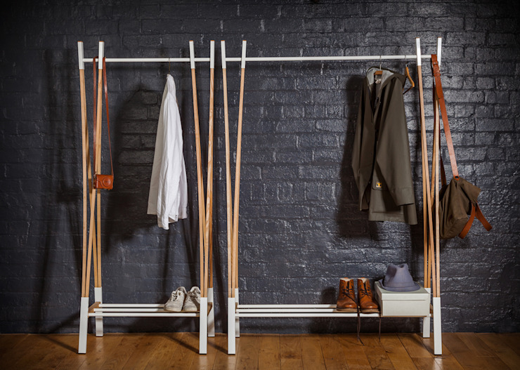 Kaori Clothes Rail:  Bedroom by Raskl. Design Studio & Workshop,