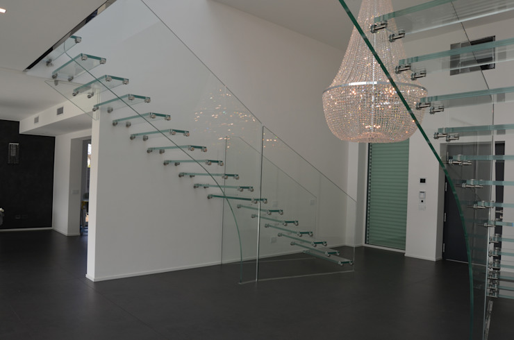 All glass stairs by Siller Treppen/Stairs/Scale Iндустріальний Скло