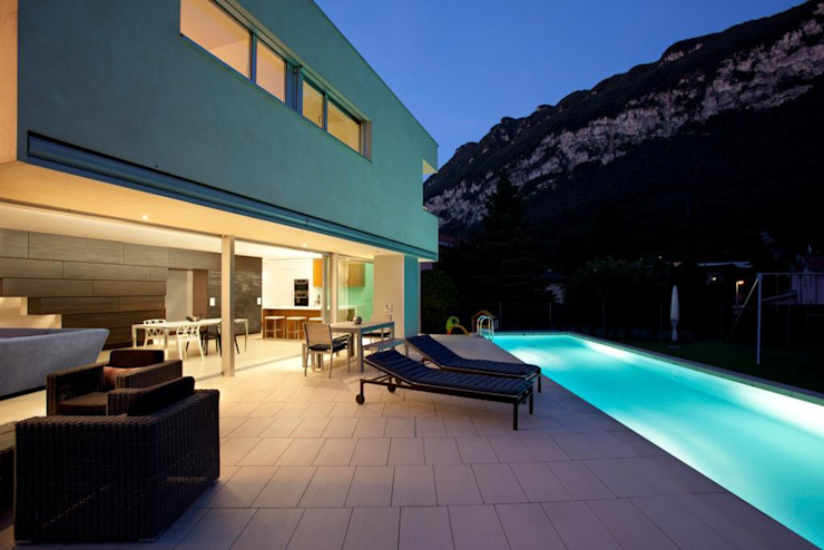 Modern style balcony, porch & terrace by Studio d'arch. Gianluca Martinelli Modern
