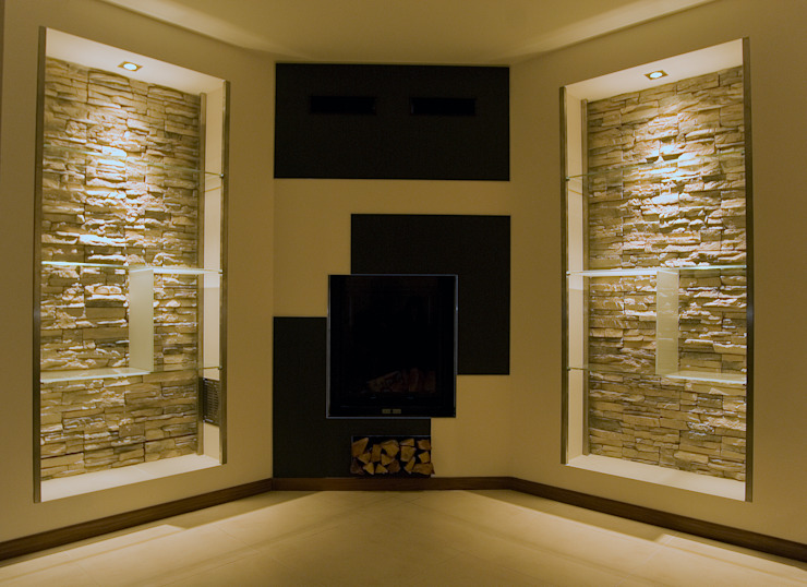 Residenza privata Soggiorno moderno di Luca Bucciantini Architettura d' interni Moderno