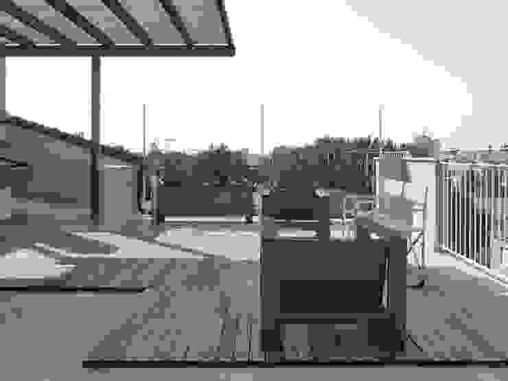 Casa EG Balcone, Veranda & Terrazza in stile moderno di Nuovostudio Architettura e Territorio Moderno