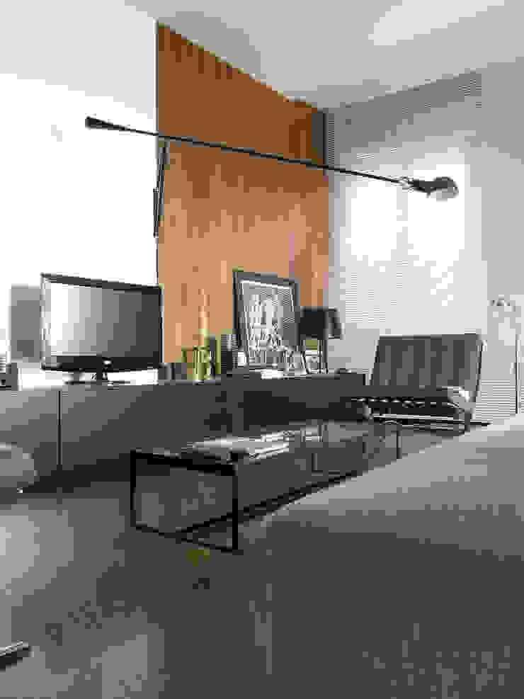 Salas modernas de Nuovostudio Architettura e Territorio Moderno