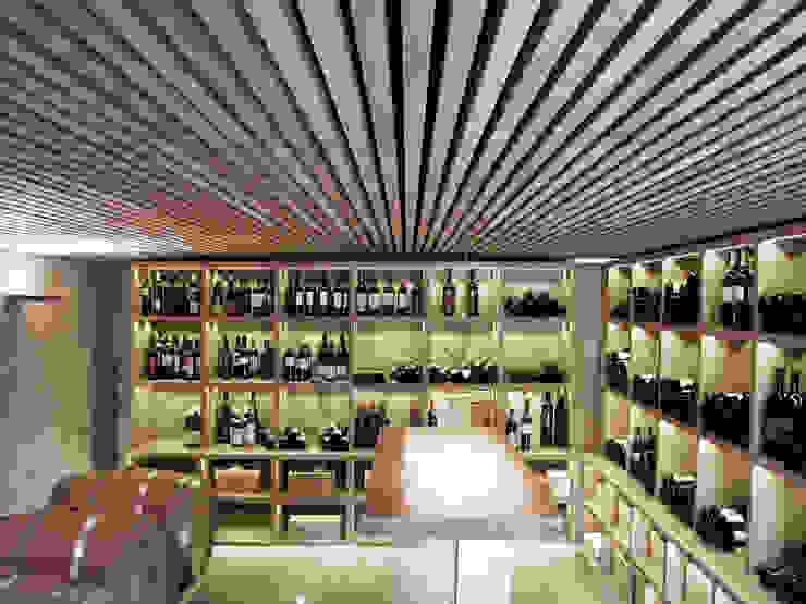 DAVINUM_room for wine tasting. Cantina moderna di msplus architettura Moderno