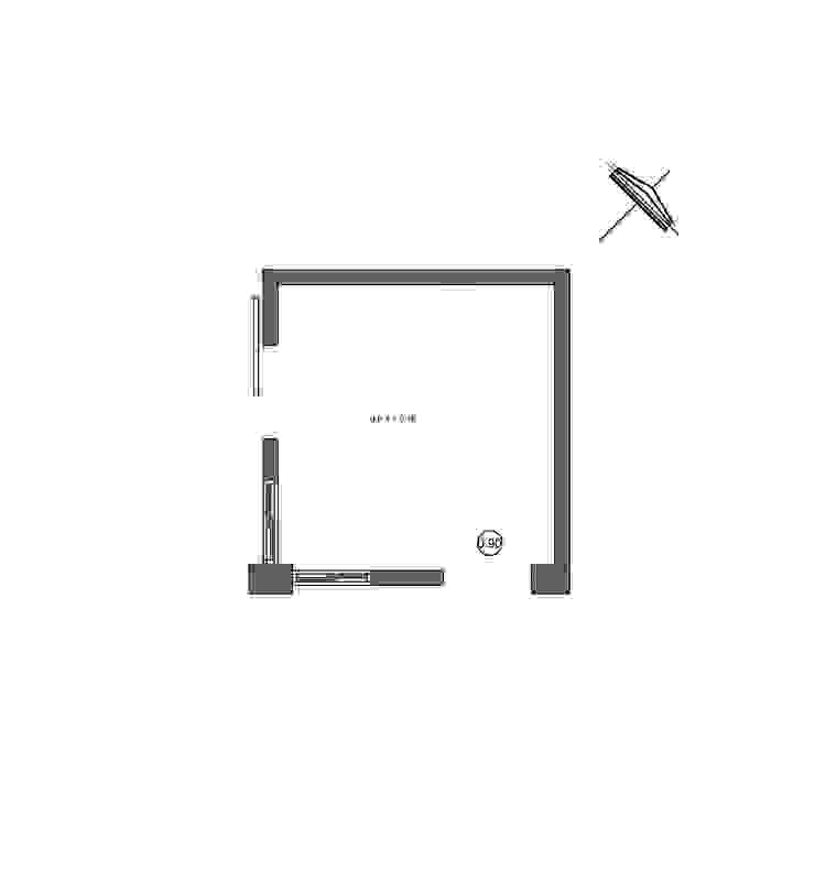 Planos - Planta Arquitectónica Espacios comerciales de estilo moderno de 21 Arquitectura Moderno