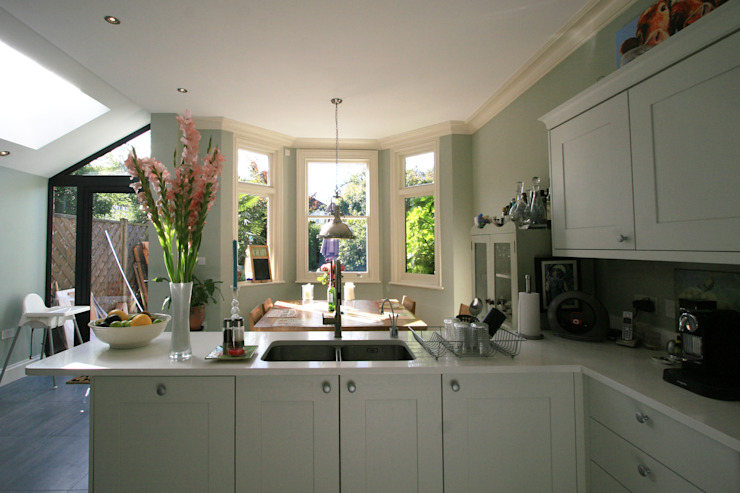 Transformed NW London Terrace Classic style kitchen by Model Projects Ltd Classic