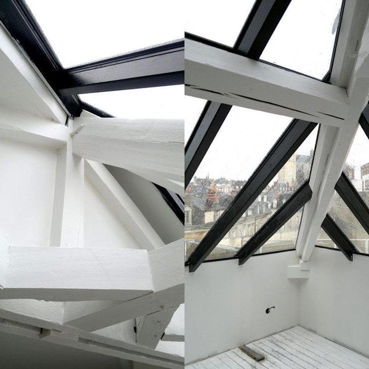 Allegre + Bonandrini architectes DPLG Balkon, Beranda & Teras Modern