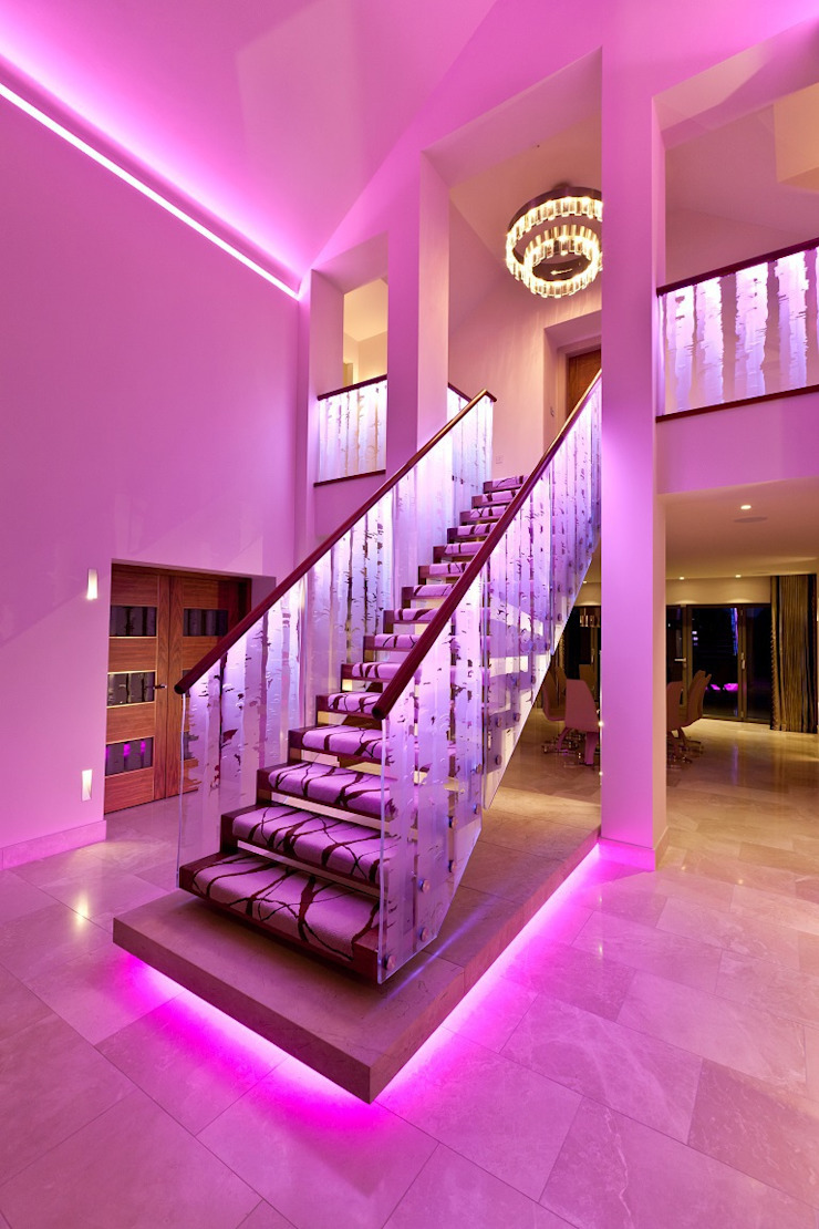 Lancashire Residence Eclectic style corridor, hallway & stairs by Kettle Design Eclectic