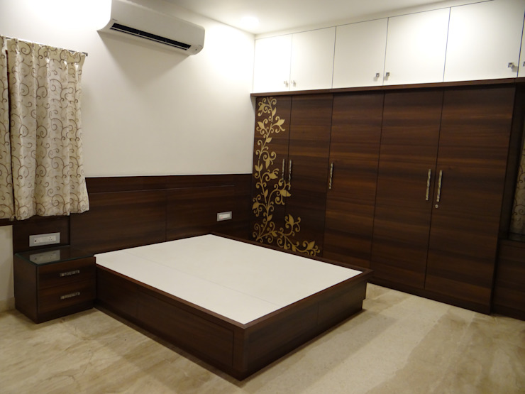 Ground floor Master bedroom Hasta architects Modern style bedroom