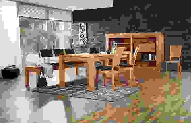 Sitzgruppe in massiver Kernbuche Moderne Esszimmer von Lignum Möbelmanufaktur GmbH Modern