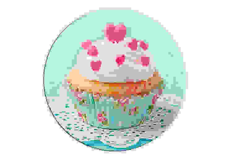 Glasbilder - Hearts on Cupcake - rund von K&L Wall Art Ausgefallen