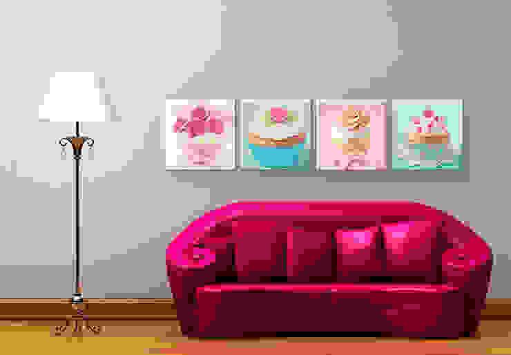 Glasbilder - Cupcakes Set (4-teilig) von K&L Wall Art Ausgefallen