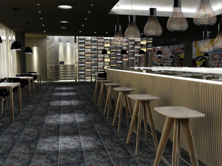 New Restaurant-Bar concept Negozi & Locali commerciali moderni di lca-office Moderno