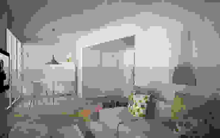 Appartamento a Marina di Pietrasanta Soggiorno in stile scandinavo di Emmepi Design Scandinavo