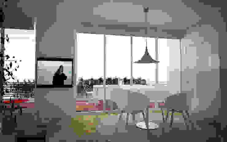 Appartamento a Marina di Pietrasanta Sala da pranzo in stile scandinavo di Emmepi Design Scandinavo