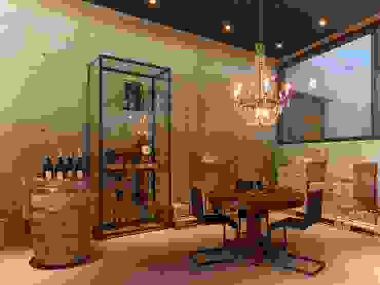 Vineyard Franz Keller – nominee for the German Lighting Design Prize 2014 Tobias Link Lichtplanung Ruang Penyimpanan Wine/Anggur Modern