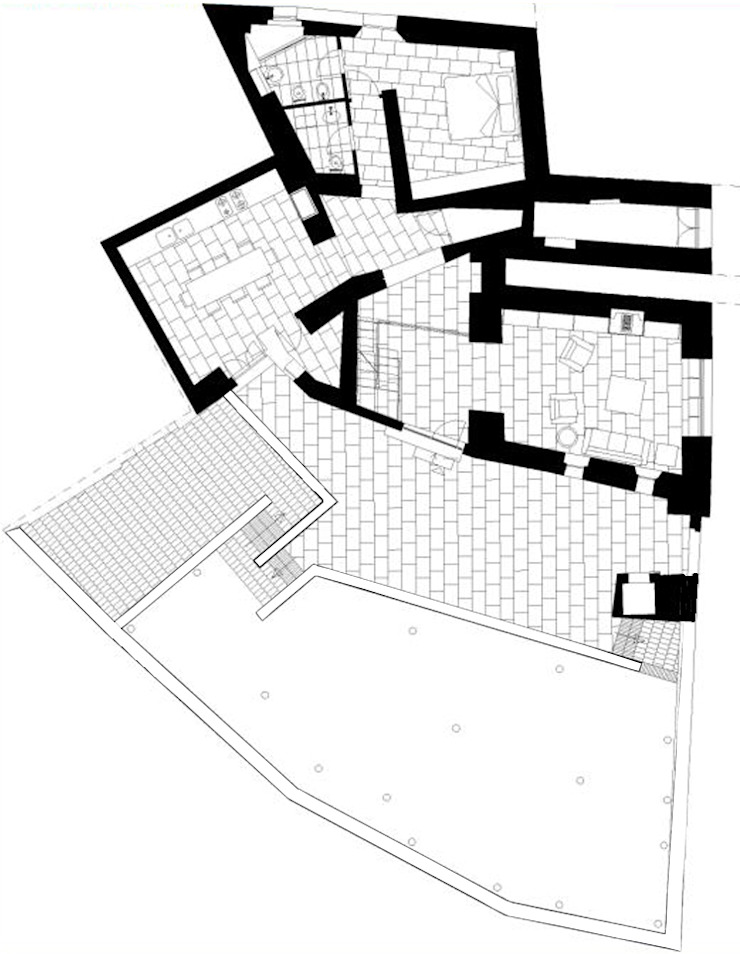 casa A1 Case moderne di vps architetti Moderno