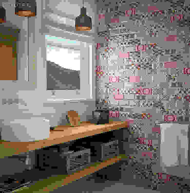 Equipe Ceramicas Mediterranean style bathrooms Ceramic