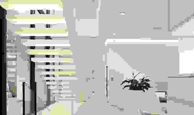 Pasillos, vestíbulos y escaleras modernos de monovolume architecture + design Moderno